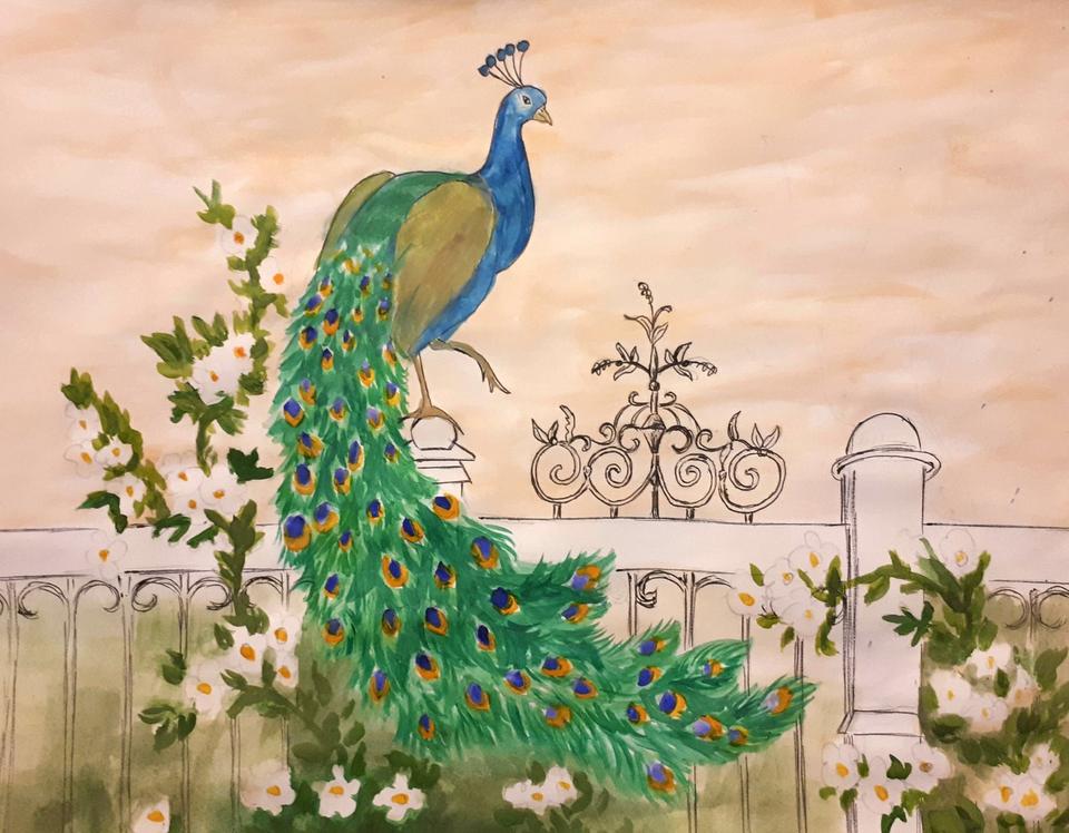 Картинки рисунки павлин