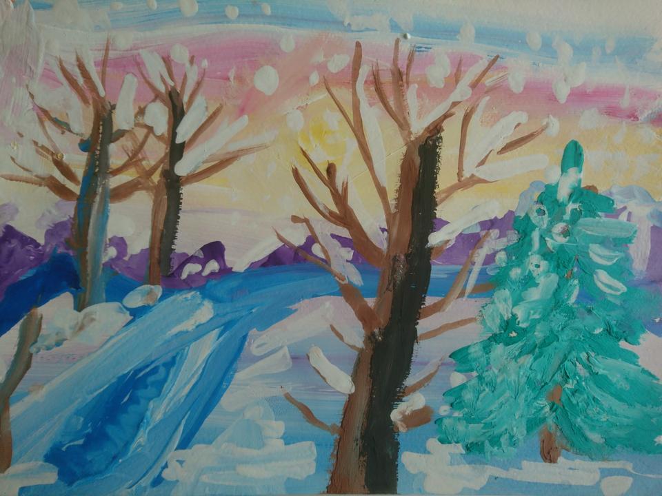 Рисунки на тему зимушка зима фото