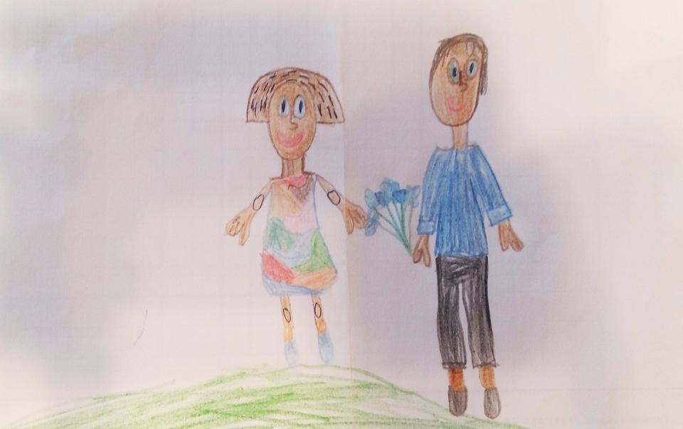 Мама и папа рисунки детей
