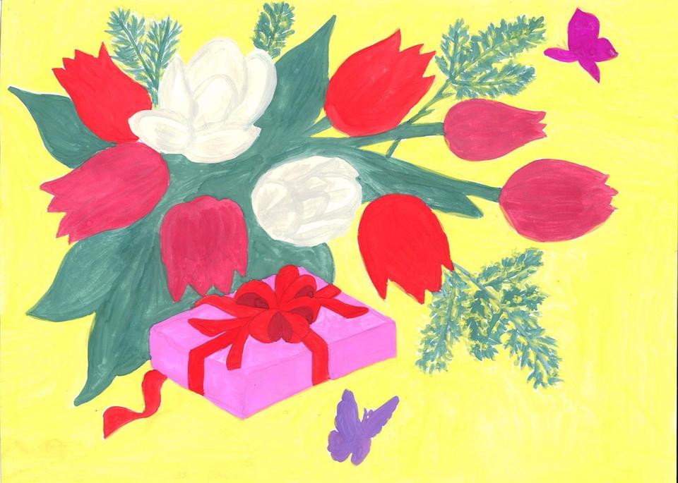 Картинки детский подарок маме