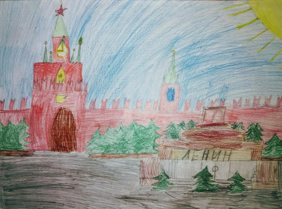 Днем, красная площадь картинки для детей нарисованные