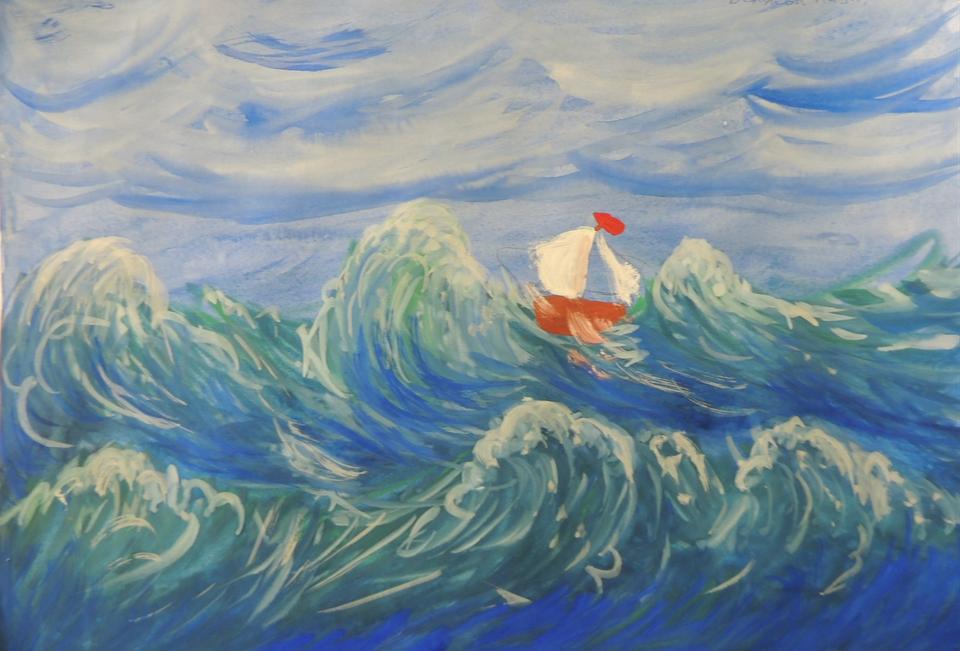 тонкой кишке рисунки к произведениям лермонтова белеет парус одинокий глубокого синего