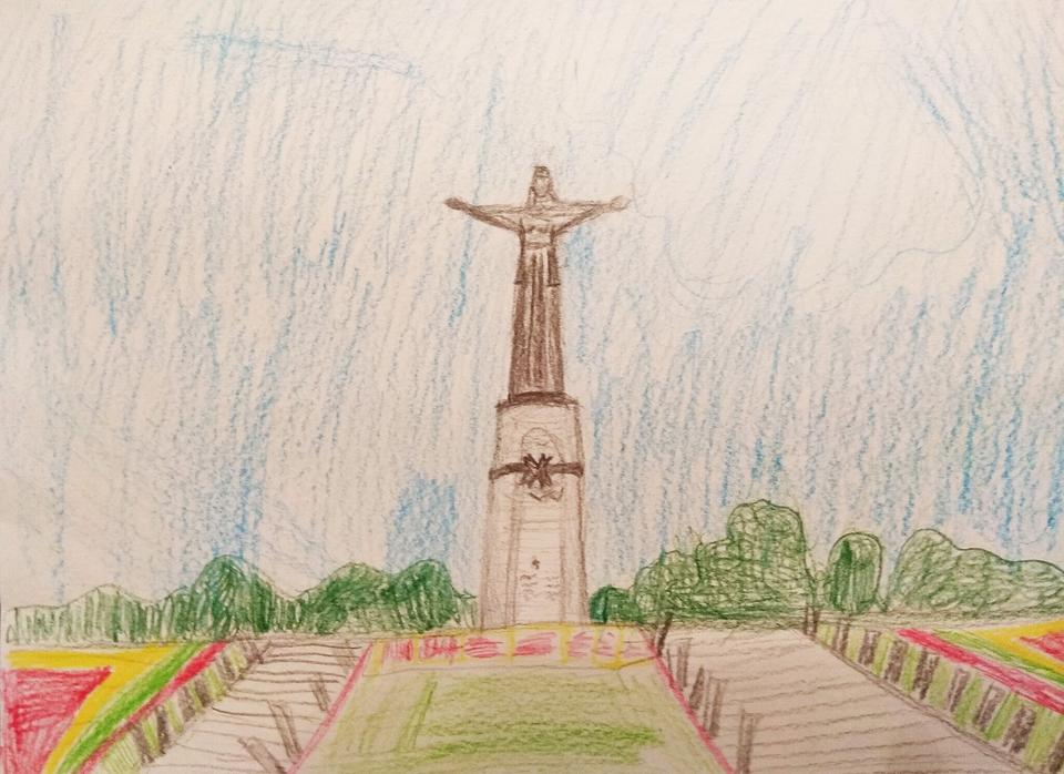 рисунки карандашом парк победы действительно начинающего