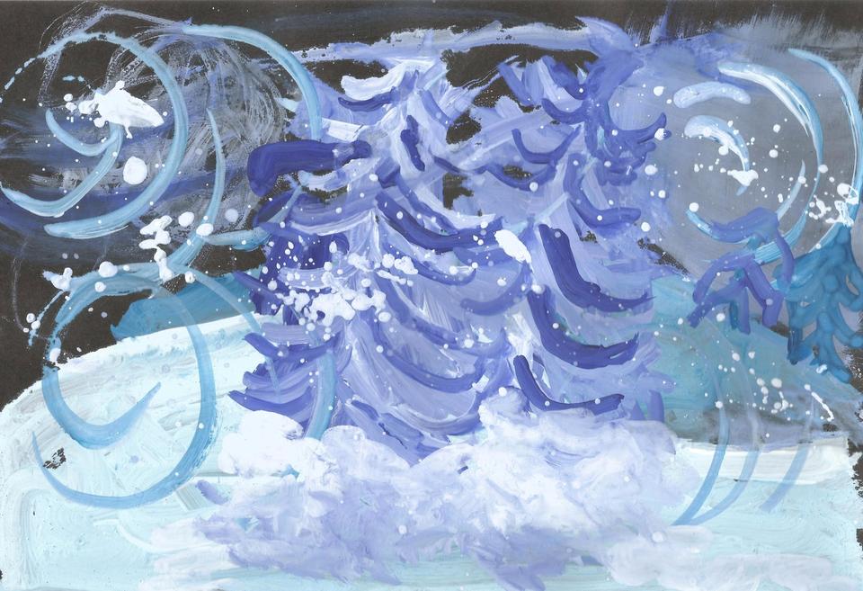 Снежная буря картинка для детей