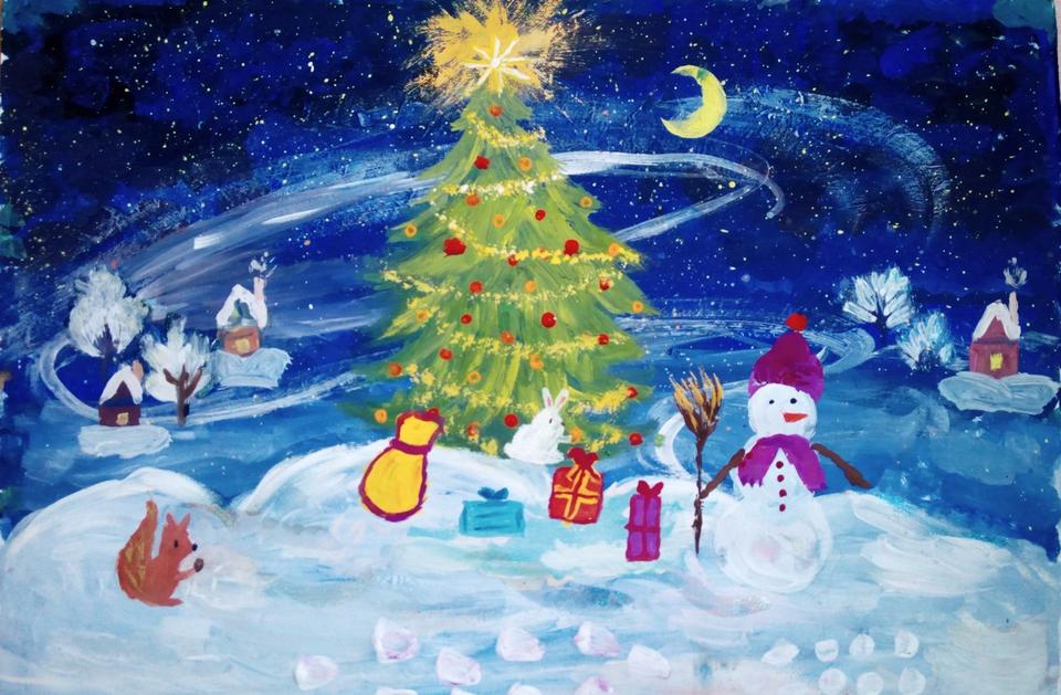Рисунки к новогоднему празднику