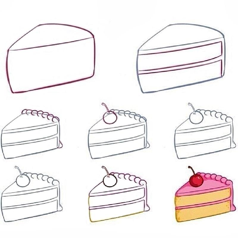 Как рисовать вкусняшки поэтапно