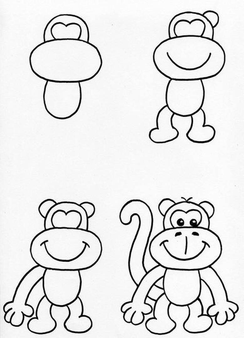 куриное картинки обезьянку как нарисовать любителей активного времяпрепровождения