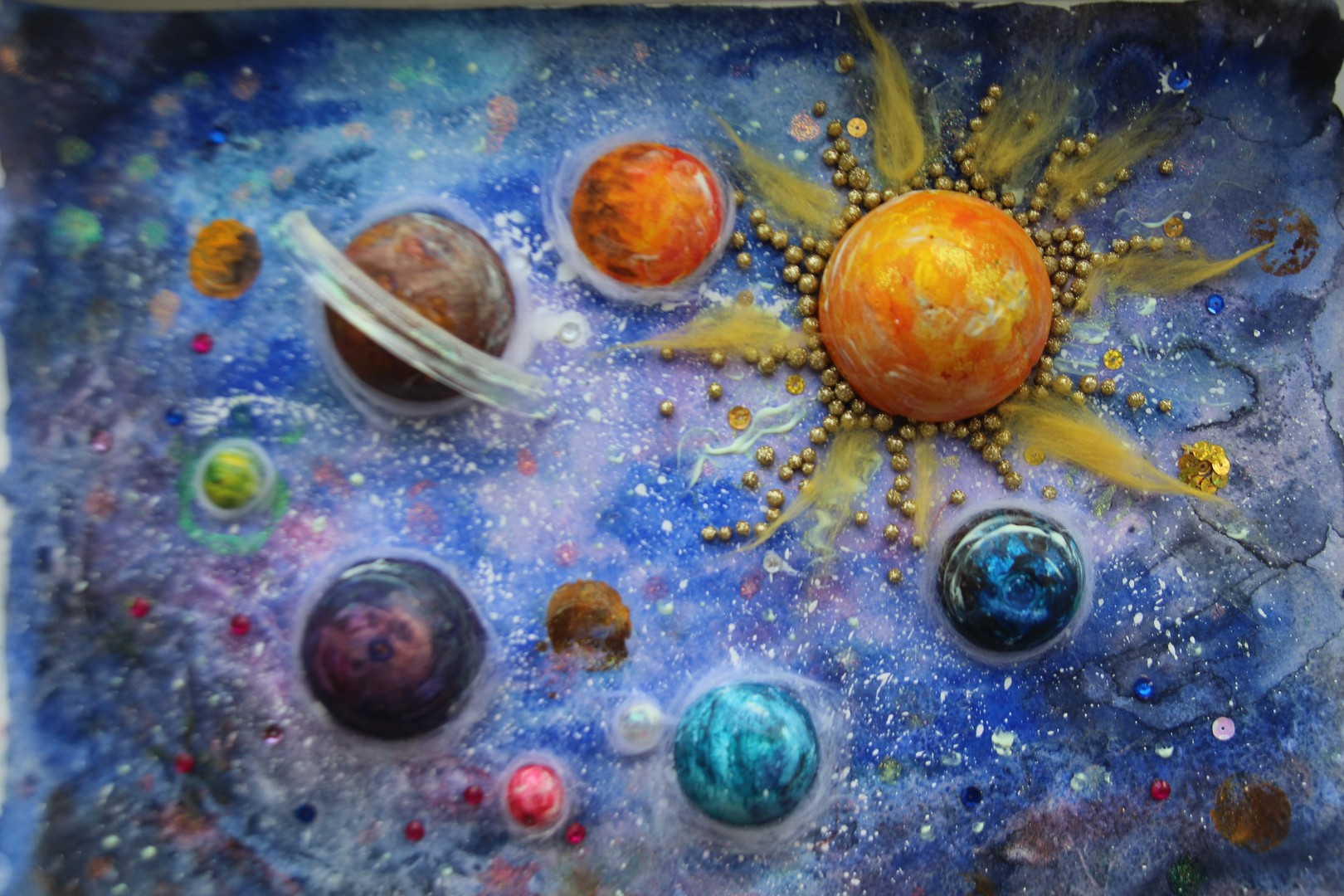 Цветы фон, картинки гуашью космос