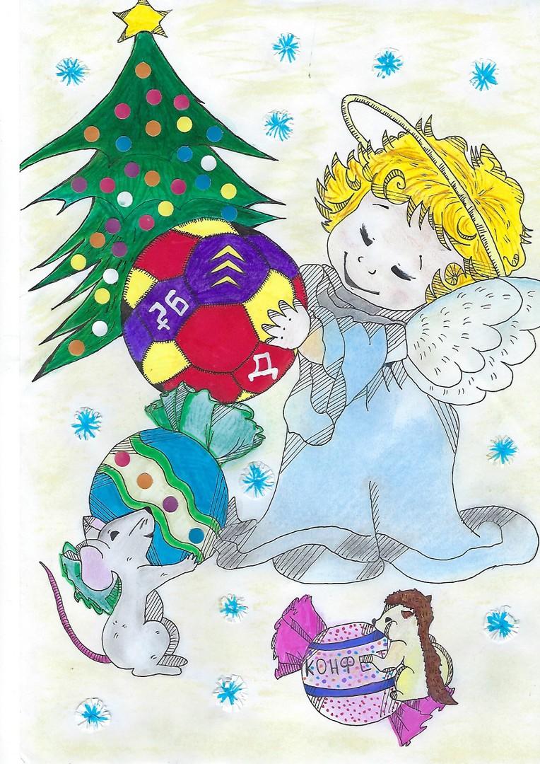 Новогодние открытки на конкурс в рисунках, новогодним приветом гиф