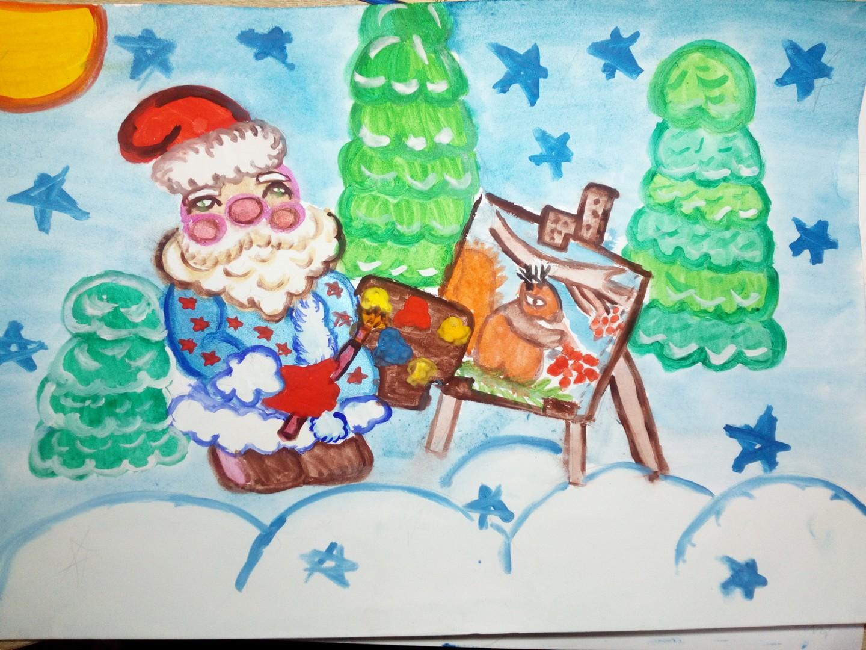 Обижаюсь, открытка деду морозу рисунок красками